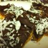 Cómo hacer chocolate coco Peanut Butter Pretzel Bares