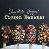 Cómo hacer chocolate sumergió congeladas Bananas