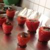 Cómo hacer chocolate rellena de fresas