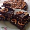 Cómo hacer Pretzels chocolate Fudge