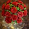 Cómo hacer de la magdalena de las rosas para el Día de San Valentín