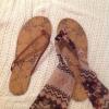 Cómo hacer sandalias lindas Fuera de Antiguo Chanclas