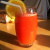 Cómo hacer deliciosa naranja y melón de agua Jugo