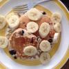 Cómo hacer delicioso yogur y Blueberry Pancakes