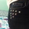 Cómo hacer bricolaje tachonado Jeans