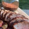 Cómo hacer tintorería frotado barbacoa a la parrilla filete de cerdo