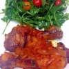 Cómo hacer Cenas fáciles: Horno Pollo asado y ensalada de rúcula