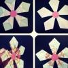 Cómo hacer fácil la flor de papel / copo de nieve