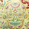 Cómo hacer: en relieve del metal del cráneo del azúcar con TCW Plantillas