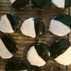 Cómo hacer negras y blancas famosas galletas