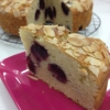Cómo hacer fresco de la cereza y de la almendra de la torta