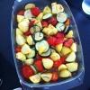 Cómo hacer la parrilla verduras (Calabacines-patatas-tomates)