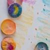 Cómo hacer veteadas Crayones