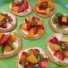 Cómo hacer mini pizzas de frutas