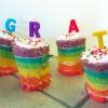 Cómo hacer Mini Rainbow Pasteles