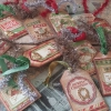 Cómo hacer Mixed Media Christmas Gift Tags