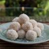 Cómo hacer Nariyal Ladoo, coco dulce de azúcar, sin gluten