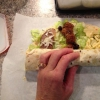 Cómo hacer Wraps almuerzo para llevar