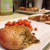 Cómo hacer sartén sartén de pollo asadas con zanahorias