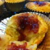 Cómo hacer Muffins bizcocho con mermelada