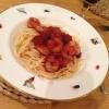 Cómo hacer la gamba Linguini Con Chorizo y Cabernet Tomate