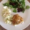Cómo hacer quinua costra de pollo al horno y la coliflor