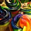 Cómo hacer Rainbow Cupcakes