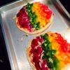 Cómo hacer Rainbow pizza vegetariana