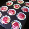 Cómo hacer Raspberry Swirl Cheesecake Cupcakes