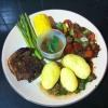 Cómo hacer costilla filete con verduras y salsa de setas