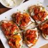 Cómo hacer asado tomate cherry Bruschetta