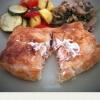 Cómo hacer salmón en croute con queso crema