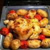 Cómo hacer Sanders Horno Pollo asado con verduras