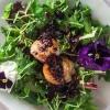 Cómo hacer de vieiras Ensalada Con Blueberry Vinagreta