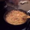 Cómo hacer Camarones en Red Curry Salsa de Coco Leche