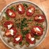 Cómo hacer lento asado tomate, lentejas, ensalada de arroz integral