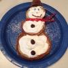 Cómo hacer el muñeco de nieve Pancakes