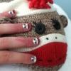 Cómo hacer del mono del calcetín Nail Art