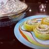 Cómo hacer Spiced Plátano-Fecha Rolls Pan