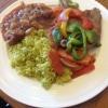 Cómo hacer Steak con tomates, pimientos y cebollas
