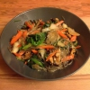 Cómo hacer Vegetariana japchae