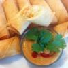 Cómo hacer Vegetariana Springroll Con salsa de maní