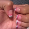 Cómo hacer cebra Sugerencia Con Pink Line Nails