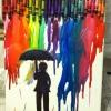 Cómo Derretir lápices de colores sobre un lienzo
