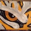 Cómo pintar un ojo de tigre