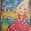 Cómo pintar una chica banales en un lienzo