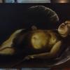 Cómo pintar Cupido Descansar con los dedos.
