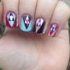 Cómo pintar las uñas anidada Triángulo