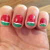 Cómo pintar las uñas de sandía!