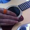 Cómo jugar el Intro de Detrás de ojos azules en la guitarra